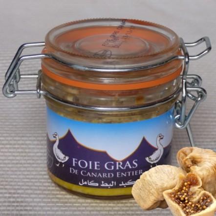 Foie gras de canard entier halal a la figue seche 80 g