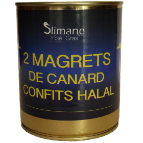 Deux magrets de canard confites 600g - halal
