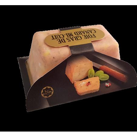 Foies gras de canard mi-cuit halal 400g