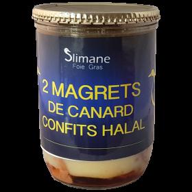 Deux magrets de canard confites 600 g - halal