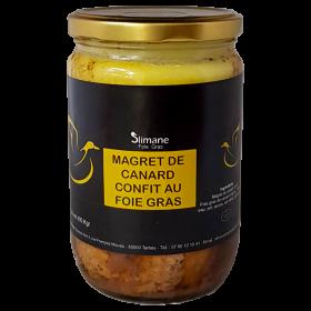 Magret de canard confit farci au foie gras halal