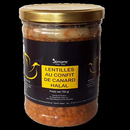 Lentilles au confit de canard 800 g -halal