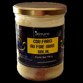 Cou farci au foie gras de canard - halal